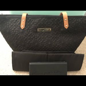 Penelope Pickle Bottom Diaper Bag - Black